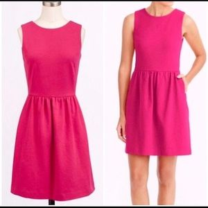 J. Crew Pink Raspberry sleeveless dress pockets